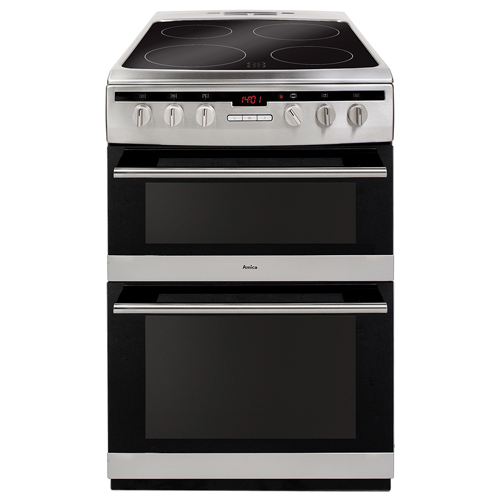 608DCE2TAXX 60cm freestanding electric double oven with ceramic hob, stainless steel  Main