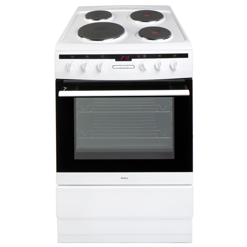 608EE2TAW 60cm freestanding electric cooker with electric plate hob, white Main