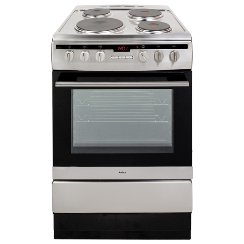 608EE2TAXX 60cm freestanding electric cooker with electric plate hob, stainless steel  Main