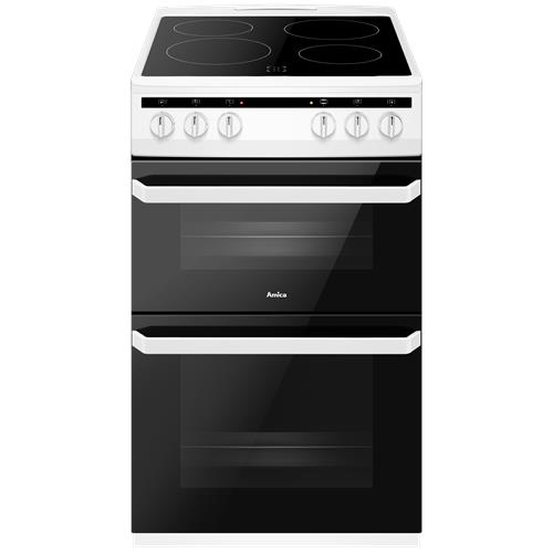 AFC5100WH 50cm freestanding electric twin cavity with ceramic hob