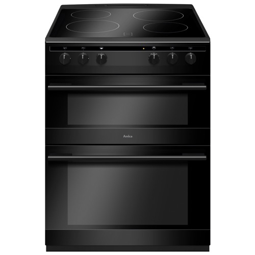 AFC6520BL 60cm freestanding electric double oven with ceramic hob