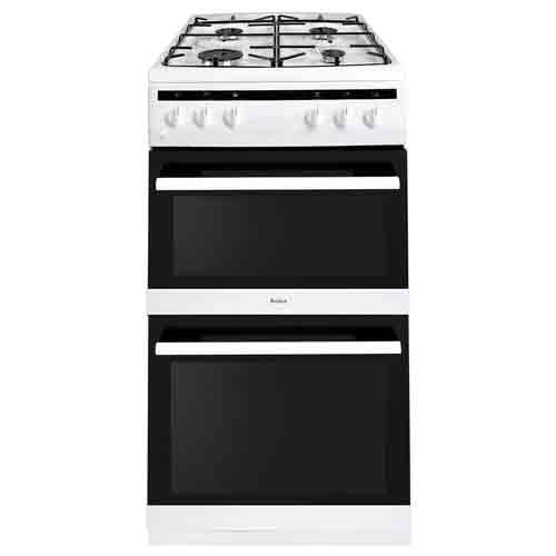 AFG5500WH 50cm freestanding gas double oven with gas hob