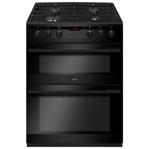 AFG6450BL 60cm freestanding gas double oven with gas hob