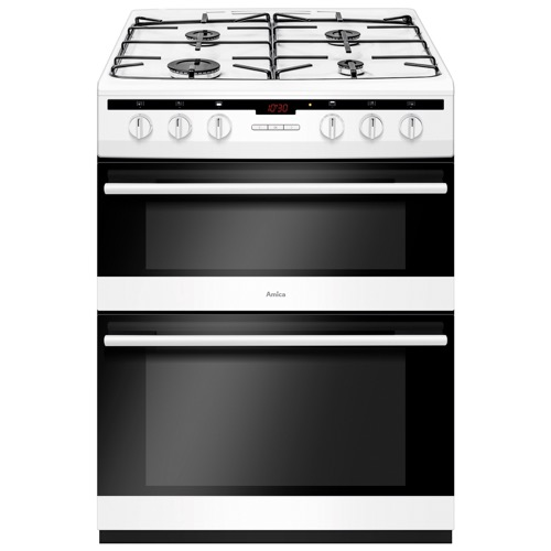 AFG6450WH 60cm freestanding gas double oven with gas hob