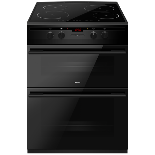 AFN6550MB 60cm freestanding electric double oven with induction hob