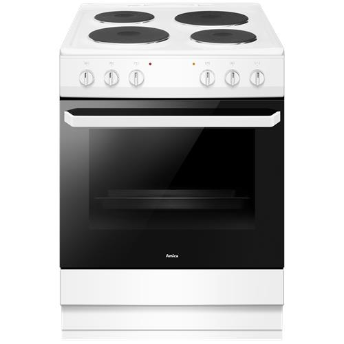 AFS1630WH 60cm freestanding cooker single cavity with electric hob
