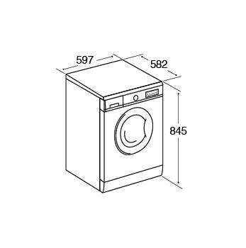 AWDI814D 8kg 1400 spin freestanding washer dryer, white Alternative (0)