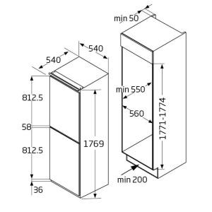 BK2963FA 54cm integrated 50/50 frost-free fridge freezer Alternative (0)