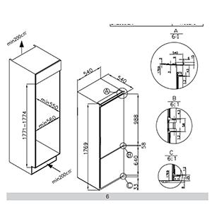 BK3163FA 54cm integrated 70/30 frost-free fridge freezer Alternative (0)