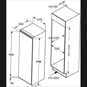 BZ2263 54cm built-in upright freezer Alternative (0)