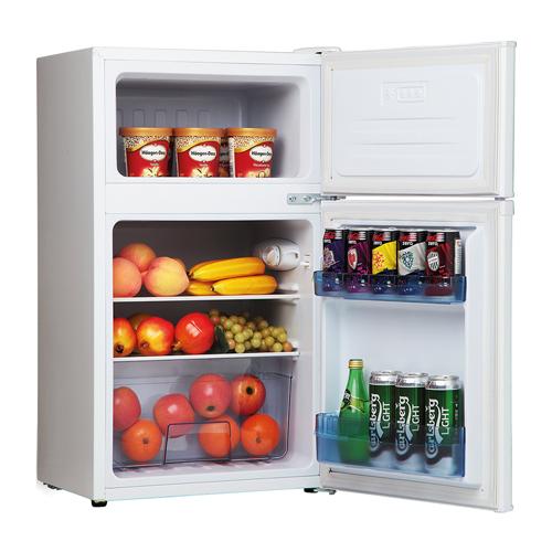 FD1714 48cm freestanding undercounter double door fridge freezer, white Main