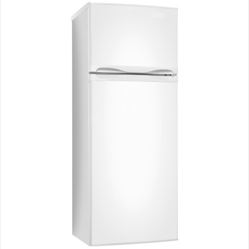 FD2253 55cm freestanding double door fridge freezer, white