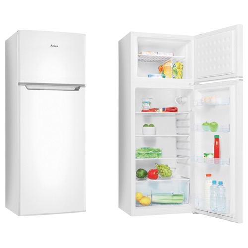 FD2303 55cm freestanding double door fridge freezer