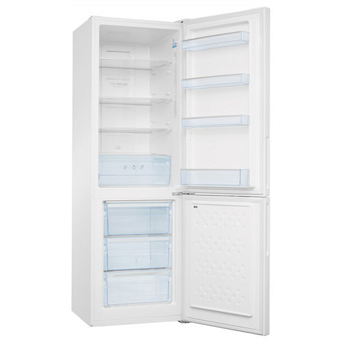 FK3216GWDF 60cm freestanding frost-free 70/30 fridge freezer, white glass Main