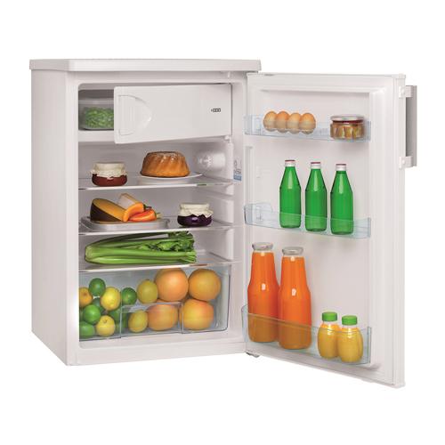FM1383 55cm freestanding undercounter fridge, white
