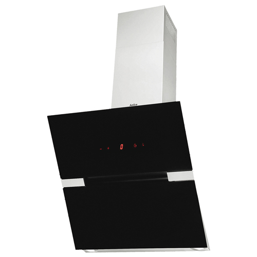 OKC6726I 60cm angled extractor, black glass