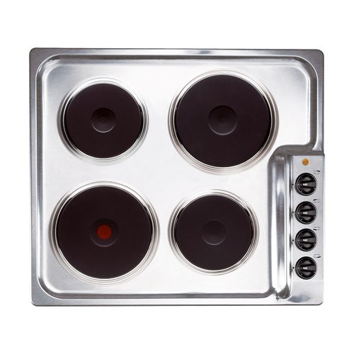 PG4ES11 60cm 4 plate electric hob, stainless steel