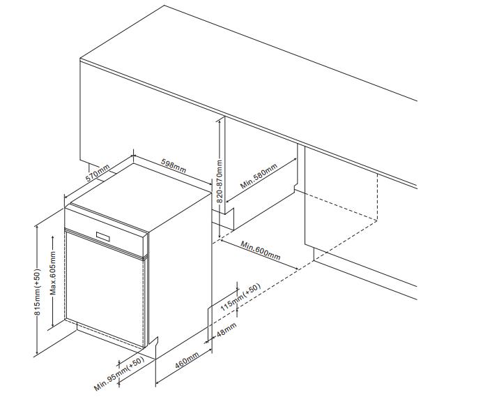 ZZV634W 60cm semi-integrated dishwasher, white Alternative (23)