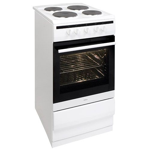 508EE1W 50cm freestanding electric cooker with electric plate hob, white Alternative (0)