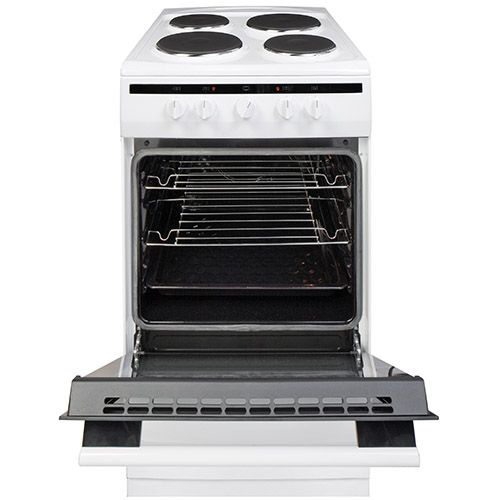 508EE1W 50cm freestanding electric cooker with electric plate hob, white Alternative (2)