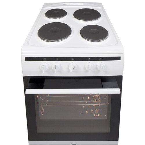 508EE1W 50cm freestanding electric cooker with electric plate hob, white Alternative ()