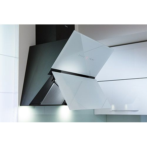 OKC653SW 60cm angled extractor, white glass Alternative ()