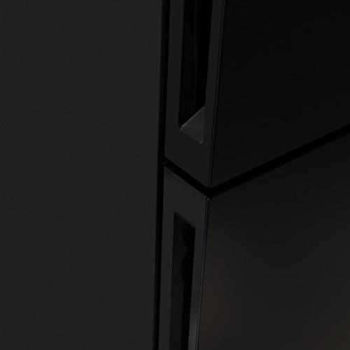 FK3216GBDF 60cm freestanding frost-free 70/30 fridge freezer, black glass Alternative (0)