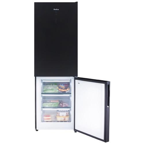 FK3216GBDF 60cm freestanding frost-free 70/30 fridge freezer, black glass Alternative (9)