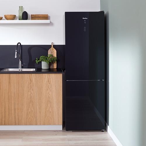 FK3216GBDF 60cm freestanding frost-free 70/30 fridge freezer, black glass Alternative (15)