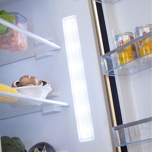 FK3216GBDF 60cm freestanding frost-free 70/30 fridge freezer, black glass Alternative (16)