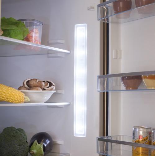 FK3216GBDF 60cm freestanding frost-free 70/30 fridge freezer, black glass Alternative (17)