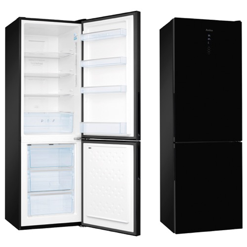 FK3216GBDF 60cm freestanding frost-free 70/30 fridge freezer, black glass Alternative (18)