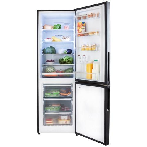FK3216GBDF 60cm freestanding frost-free 70/30 fridge freezer, black glass Alternative (19)