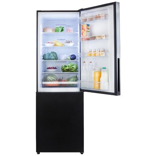 FK3216GBDF 60cm freestanding frost-free 70/30 fridge freezer, black glass Alternative (21)