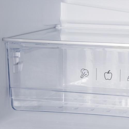 FK3216GWDF 60cm freestanding frost-free 70/30 fridge freezer, white glass Alternative (5)