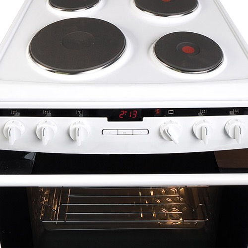 608EE2TAW 60cm freestanding electric cooker with electric plate hob, white Alternative (1)