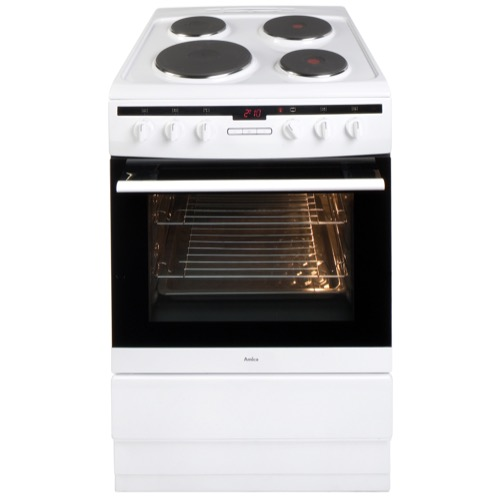 608EE2TAW 60cm freestanding electric cooker with electric plate hob, white Alternative (2)
