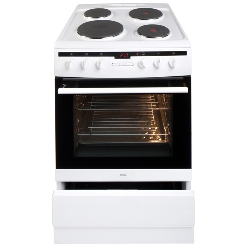 608EE2TAW 60cm freestanding electric cooker with electric plate hob, white Alternative (4)