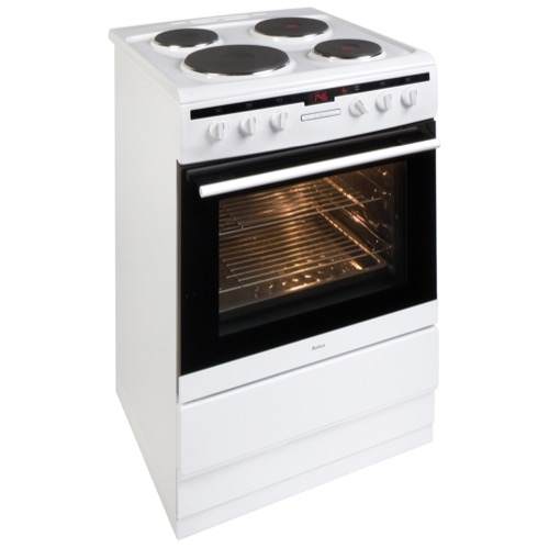 608EE2TAW 60cm freestanding electric cooker with electric plate hob, white Alternative ()