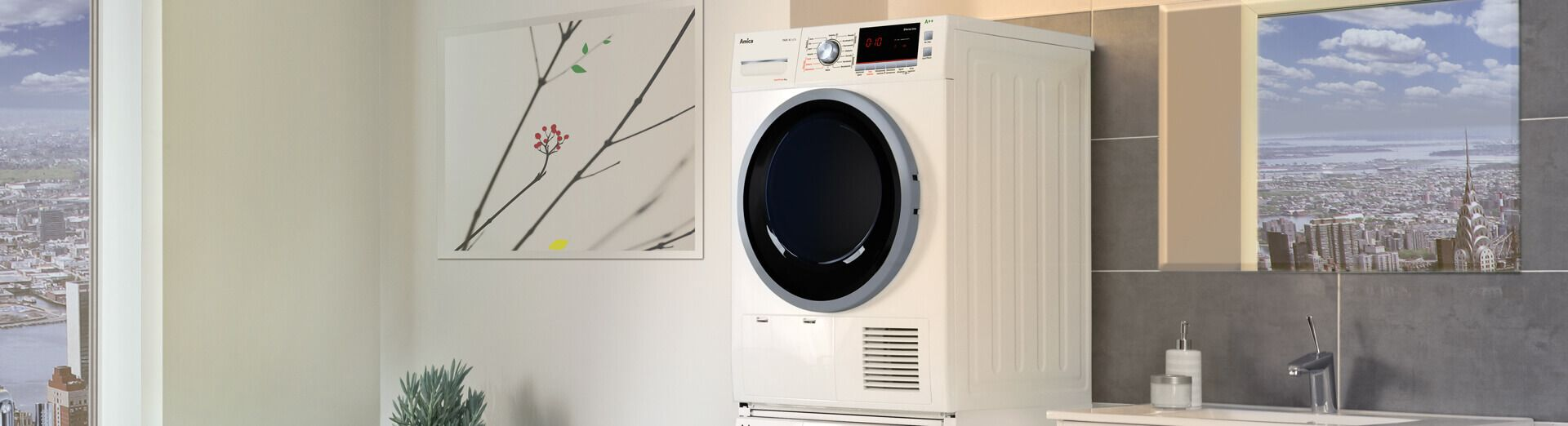 Freestanding tumble dryer top image