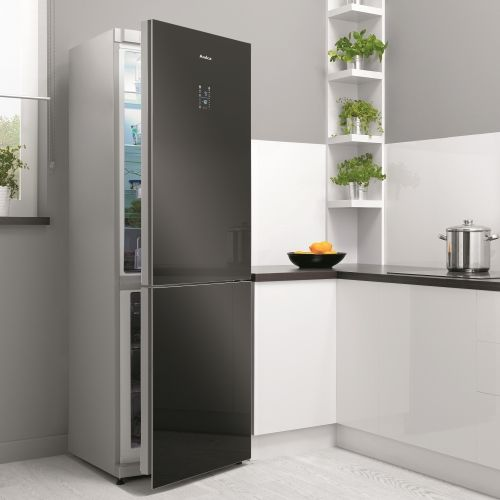 Refrigerator in kitchen set
