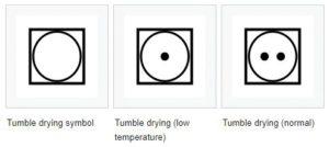 Tumble dryer symbols